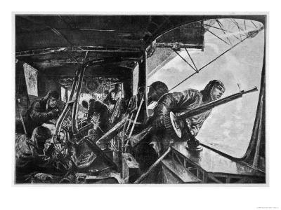 The Interior of a Zeppelin in the Course of a Bombing Raid on England