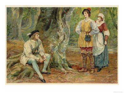 As You Like It, Orlando Rosalind and Celia in the Forest of Arden
