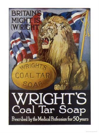 Wright's Coal Tar Soap: Britain's Might is (W)Right