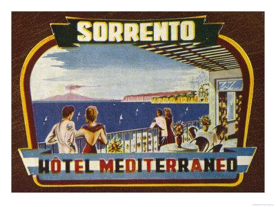 Panoramic View of Vesuvius Ir Promised by the Label of the Hotel Mediterraneo