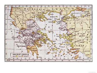 Map Showing the Extent of the Greek Empire and the Surrounding Territories