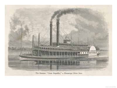 The Elegant Mississippi Paddle Steamer Great Republic