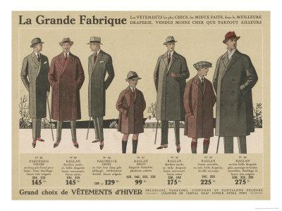 Single and Double-Breasted Coats Including Raglans Sacs and Slim-Fitting Models with Fly Fronts