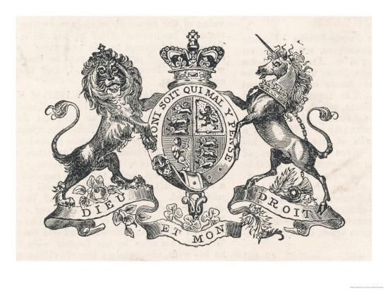 The Royal Coat Of Arms Of Queen Victoria Giclee Print At