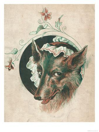 The Wicked Wolf Wearing Red Riding Hood's Grandmother's Nightcap: a Rather Unconvincing Disguise!