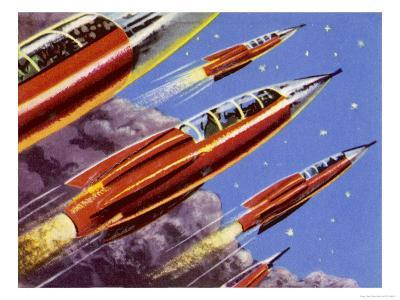 Military Rockets for Space Activity Armed with Death Rays