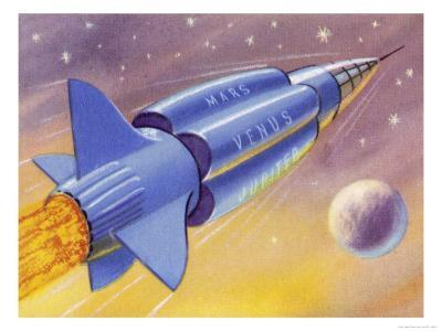 Interplanetary Omnibus Ferrying Passengers from One Space Destination to Another
