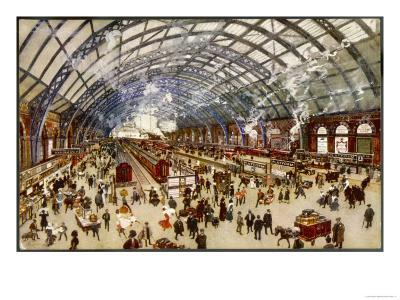 Going North for the Holidays from St. Pancras Station Midland Railway