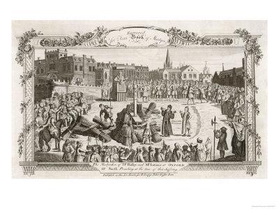 Nicholas Ridley Bishop of London and Hugh Latimer Bishop of Worcester Burnt by Catholics at Oxford