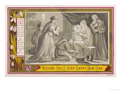 The Three Magi Give Jesus His Birthday Presents