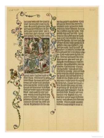 Illuminated Manuscript Known as the Wenzelbibel