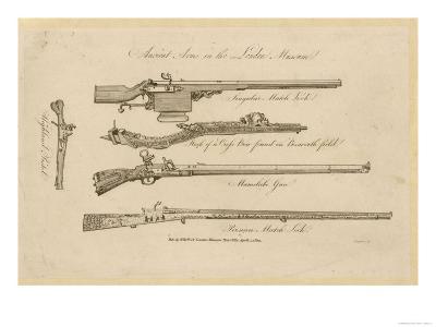 Matchlock Crossbow (From Bosworth) Mameluke Gun Persian Matchlock and Highland Pistol