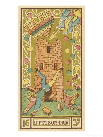 Tarot: 16 La Maison Dieu, The Tower