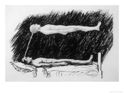 The Out-Of-Body Experience Figure 2 of 5 the Astral Body Lying in the Air Above the Physical Body