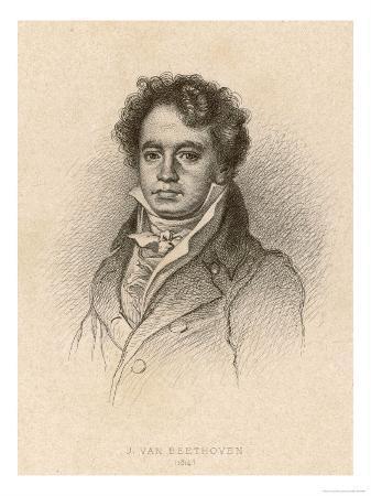 Ludwig Van Beethoven German Composer Portrait in 1814