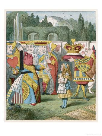 """Alice and the Queen of Hearts: """"Off with Her Head!"""""""