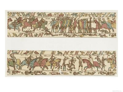 Bayeux Tapestry: Battle of Hastings the Norman Horsemen Charge the English Infantry