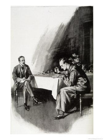 The Valley of Fear Watson Watches Whilst Holmes Studies the Evidence