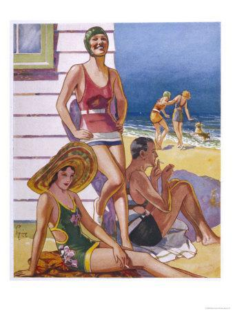 Young Men and Women Smoking and Enjoying Themselves on the Beach