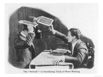 Houdini Demonstrates How Slates May be Changed at a Seance