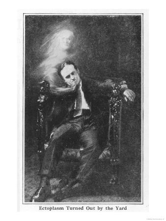 """Houdini Demonstrates How """"Ectoplasm"""" May be Produced from the Mouth"""