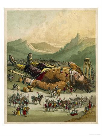 Gulliver is Tied Down by the People of Lilliput