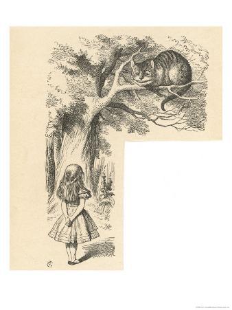 Cheshire Cat Alice Meets the Cheshire Cat
