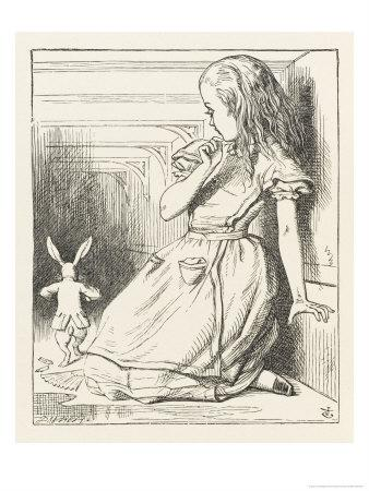 Alice Watches the White Rabbit Disappear Down the Hallway