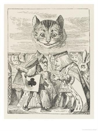 Cheshire Cat the King Queen and Executioner Argue About the Chishire Cat's Head