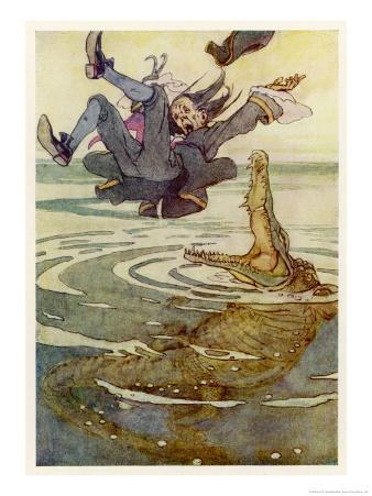 Captain Hook Falls into the Jaws of the Crocodile