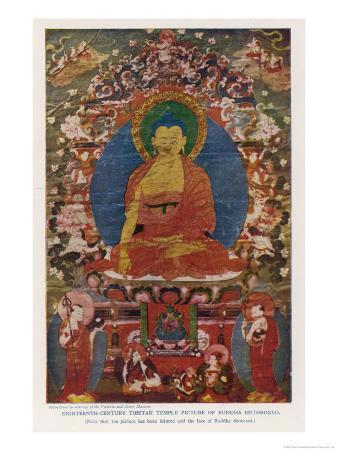 Siddhartha Gautama the Buddha, Eighteenth Century Tibetan Temple Painting