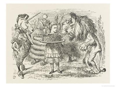 Lion and Unicorn Alice with the Lion and the Unicorn, and a Plum Cake