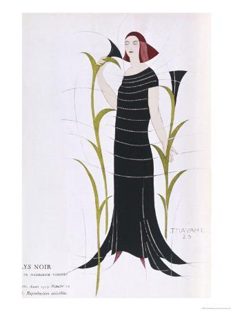 Black Dress by Madeleine Vionnet Inspired by Recent Archaeological Discoveries in Egypt