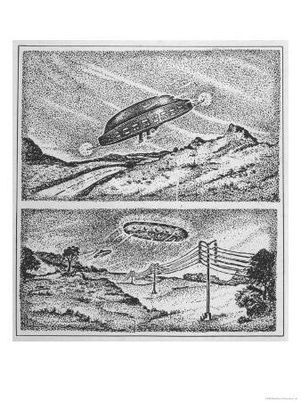 At Exeter New Hampshire Norman Muscarello Reports Sighting of UFO to Police Who Also Observe It