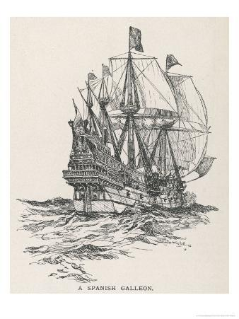 Spanish Galleon of the Type That Sailed with the Armada in 1588