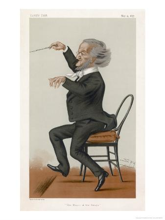 Richard Wagner the German Musician Conducts