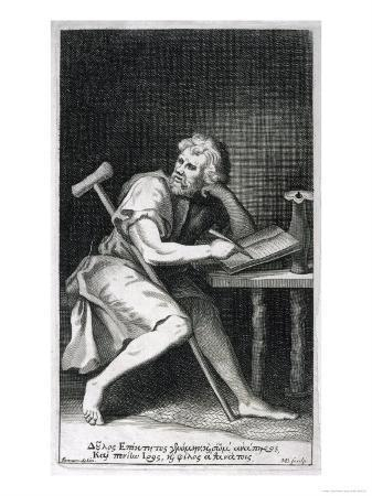 Epictetus Greek Stoic Philosopher Originally a Slave But Freed by His Master