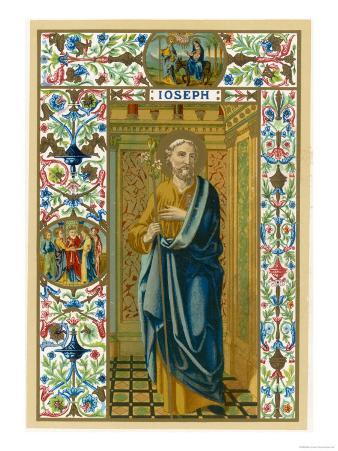 Saint Joseph Putative or Nominal Father of Jesus of Nazareth Husband of Mary Woodworker by Trade