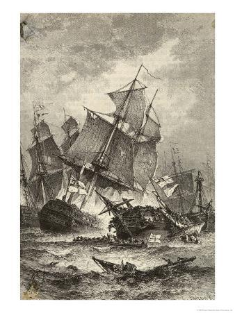 The Sinking of Admiral Villeneuve's Flagship
