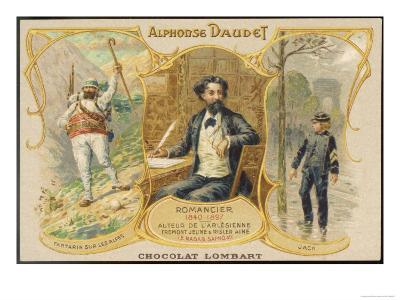 Alphonse Daudet with Scenes from Two of His Books
