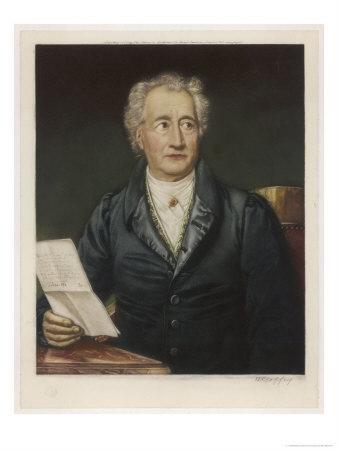 Johann Wolfgang Von Goethe German Writer and Scientist