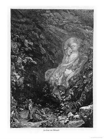 Two Bohemian (Czech) Children Gathering Firewood Encounter the Rubezahl, a Mysterious Wild Man