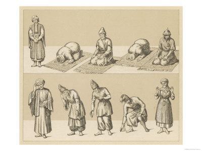 Islamic Attitudes of Worship, Some Involve Praying on a Prayer Mat