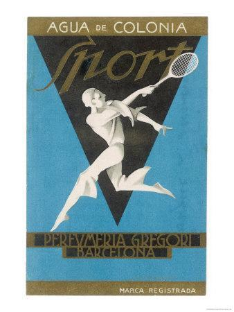 Stylised Player Performs a Stylish Backhand