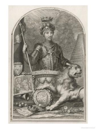 "Edward Prince of Wales Known as ""The Black Prince"" Eldest Son of Edward III"