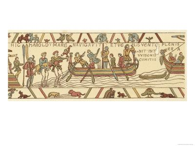 Bayeux Tapestry: Harold Sets Sail to Confirm to William That He Will Succeed Edward the Confessor