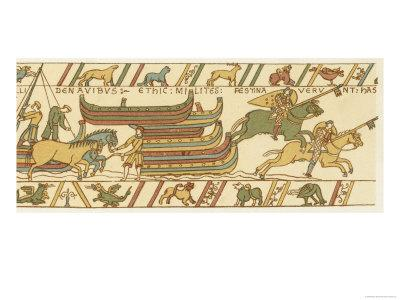 Bayeux Tapestry: The Landing of William's Cavalry
