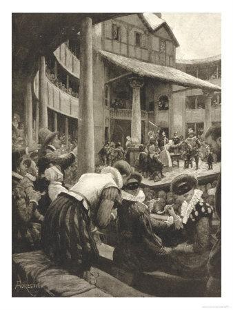 "Henry IV, Masked Ladies in the ""Pit"" Watching a Performance of Shakespeare's Henry IV"