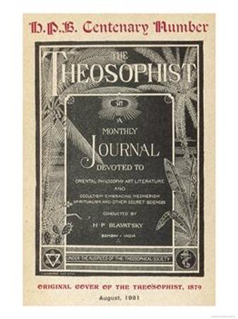 """The Theosophist"" Cover of the First Number of Madame Blavatsky's House Journal"