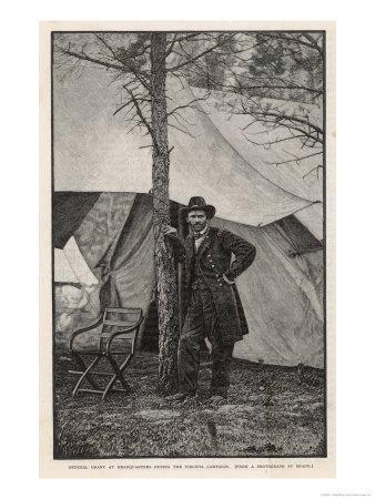 Ulysses S Grant American Civil War General at Headquarters During the Virginia Campaign